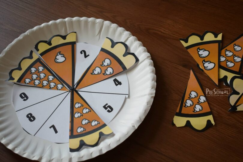 Preschoolers will love this count craft themed for fall and thanksgiving