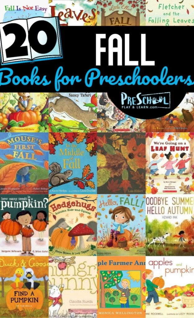20 Fall Books for Preschoolers - so many books perfect to read with toddler, preschool, prek, and kindergarten age kids in the fall #preschool #booksforkids #fall