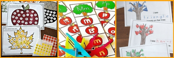 so many really fun fall activities to help preschoolers learn letters and letter recognition