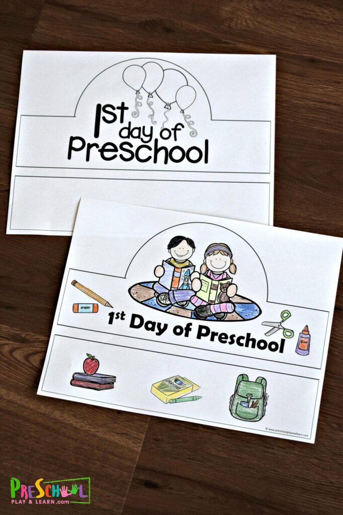 Look for a fun, clever and FREE first day of preschool activity? You will love these 1st day of preschool hats