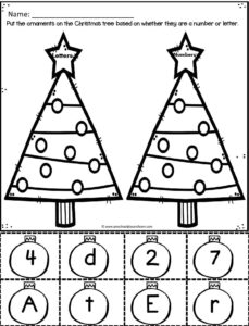 letters-and-number-sorting-Christmas-tree-worksheets