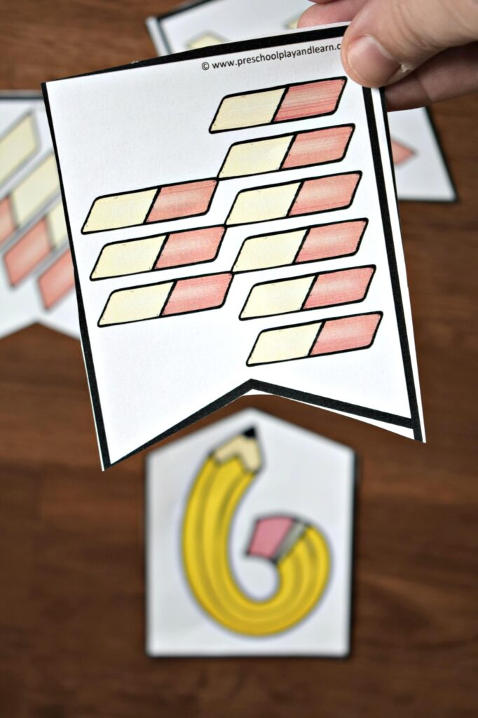Math puzzles perfect for back to school preschool math