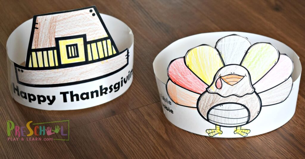 FREE Thanksgiving Hats for Kids — Preschool Play and Learn