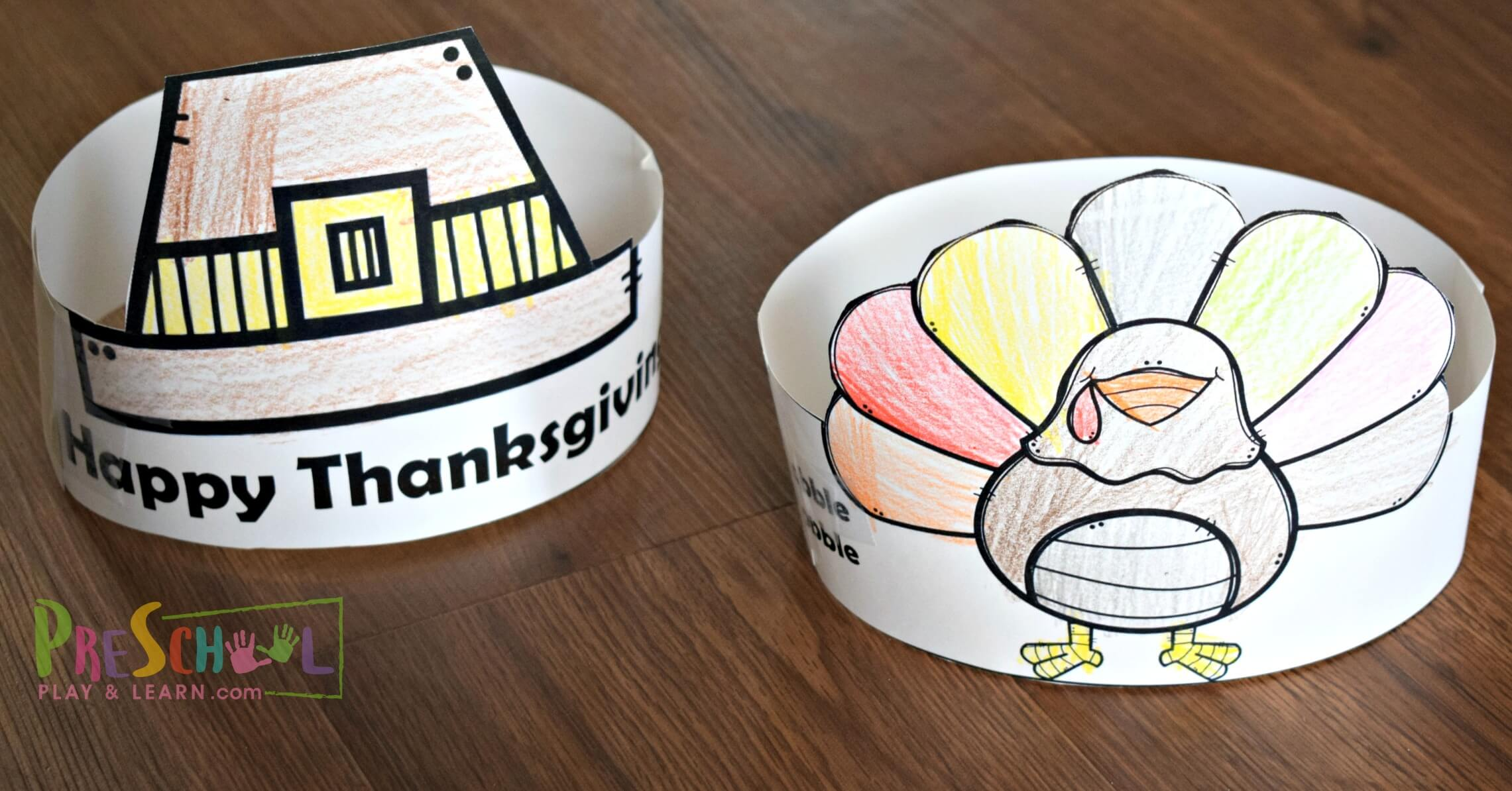 FREE Thanksgiving Hats Printable for Kids