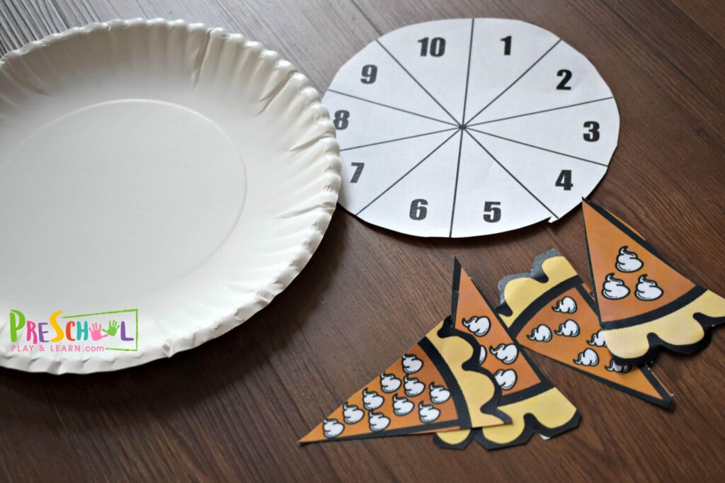 Super cute pumpkin pie counting activity with helps kids practice counting to 10