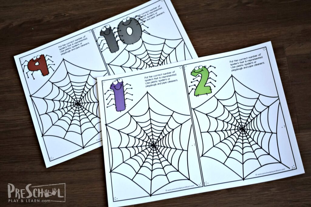 fun spider counting printable free
