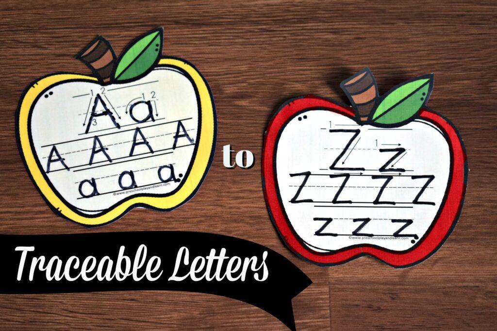 FREE Traceable Letters printable for preschooll, prek, and kindergarten age kids