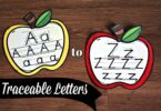 FREE Traceable Letters printable for preschooll, prek, and kindergarten age kids