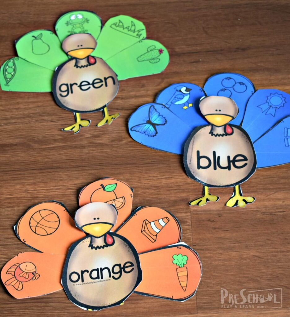 free turkey printables for kids to have fun learning with educational activity for thanksgiving in November