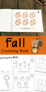 FREE Fall Counting Book - Kids will have fun practicing counting with this free printable, Fall Counting Book for toddler, preschool, and kindergarten age kids.