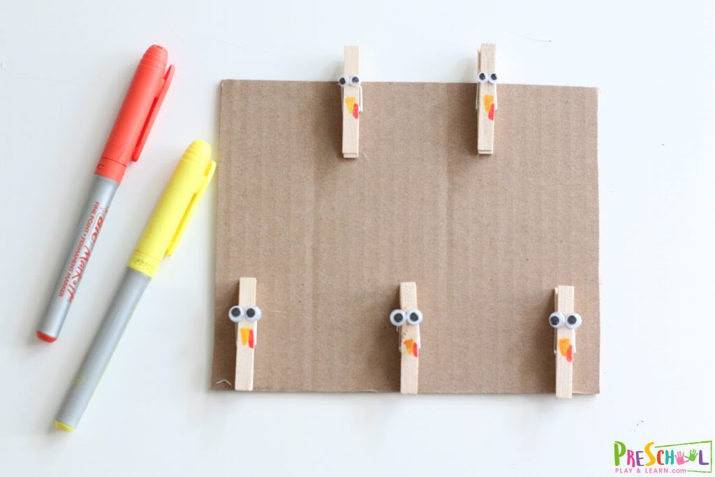 super cute diy clothespin turkeys craft and math activity