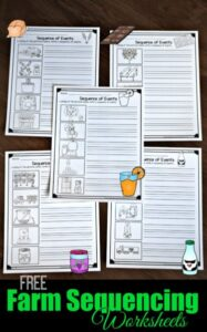 farm free sequencing worksheets