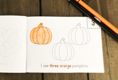 preschool counting activity for fall