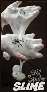 Easy to make and EPIC spider slime recipe for halloween