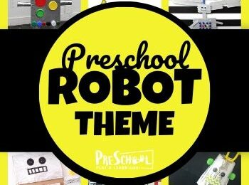 Preschool Robot Theme - so many fun, hands on robot activities for preschoolers, robot crafts, robot printables, and more for a whole weekly theme #preschoolthemes #robotsforkids #preschool