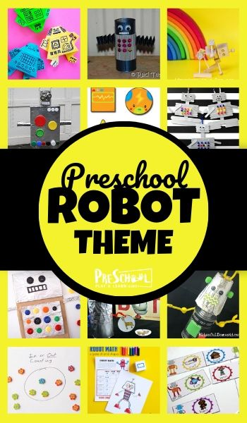 Get ready for an epic robot preschool theme with all these fun, clever, and hands-on robot activities for preschoolers. We've included lots of  educational activities for kids including robot math, robot literacy, robot crafts, and so much more for toddler, preschool, pre-k, and kindergarten age students!