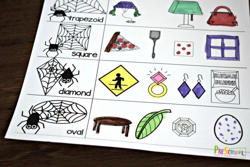 fun shape activity for preschoolers