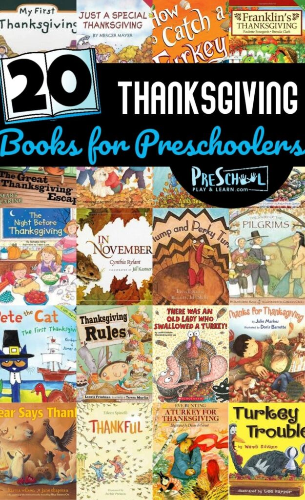 20 Thanksgiving Books for Preschoolers to read in November #thanksgiving #thanksgivingbooks #preschool
