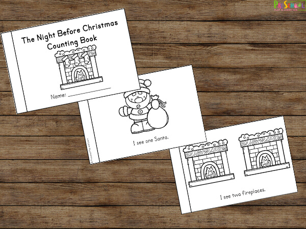 christmas counting activity for preschoolers and kindergartners