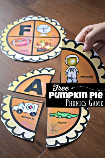 Pumpkin Pie pHOnics Game