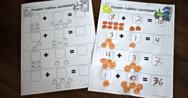 LOW PREP pumpkin worksheets for preschoolers and kindergartners