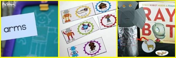 robot preschool theme
