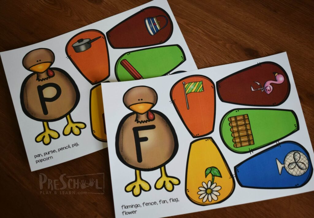 adorable turkey abc activity for preschoolers and kindergartners