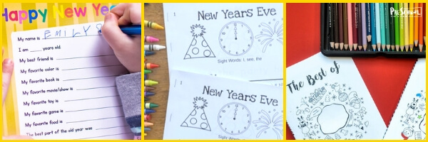 New Years Literacy Activities