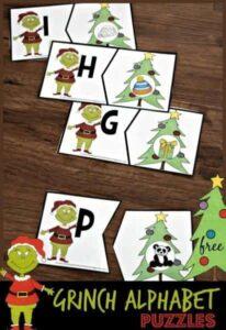 grinch christmas alphabet activity
