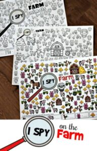FREE I Spy on the Farm printable