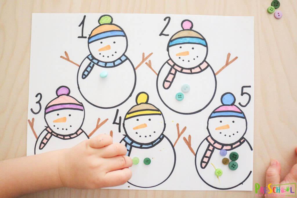 preschool snowman