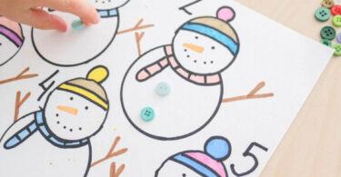 snowman activity for preschoolers