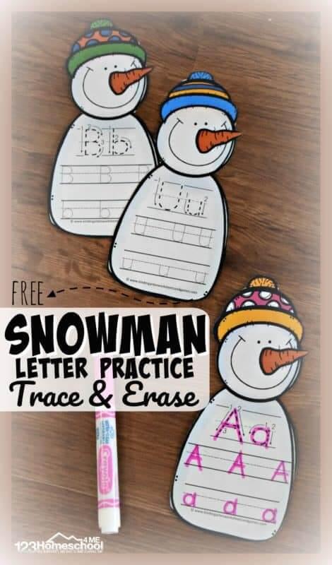 Alpabet Snowman