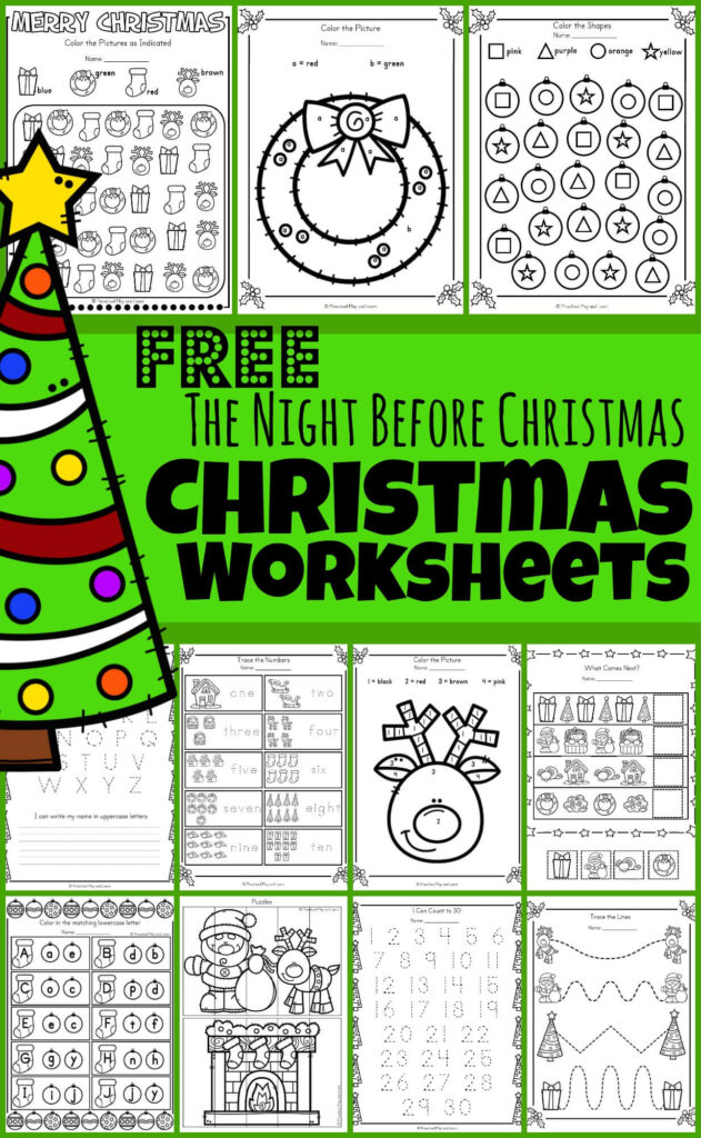 FREE 🎄The Night Before Christmas Worksheets