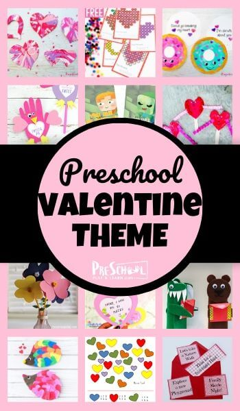 Valentine Preschool Theme - so many fun, creative, and free printables and activities for an epic preschool theme #preschoolthemes #preschoolers #valentinesday