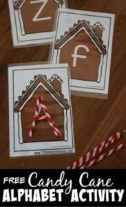 alphabet gingerbread activities