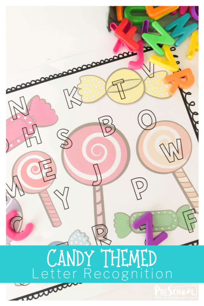 Candy theme alphabet activity for valentines day