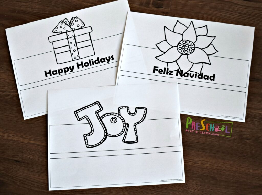 free christmas printables to make a fun december craft for kids