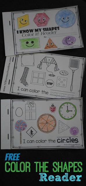 Color the Shapes Emergent Reader