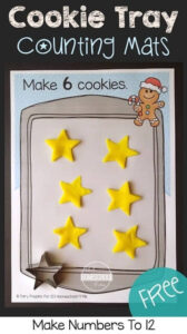 counting cookies christmas playdough mats
