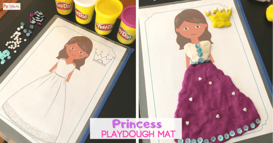 Playdough mats for toddlers, preschoolers, and kindergartners to play