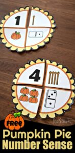 Pumpkin Pie Number Sense Puzzles