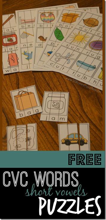 CVC Words short vowel puzzles