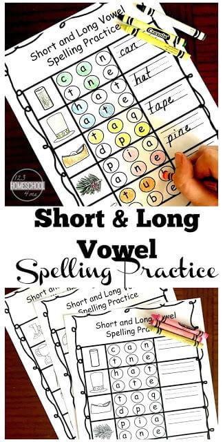 shrot vowel worksheets