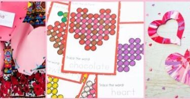 Valentines Day Theme activites for toddler preschool and kindergarten