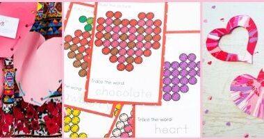 Valentines Day Theme activites for toddler preschool and kindergarten