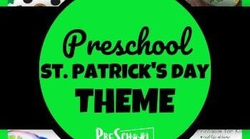 Make learning math, literacy, history, art and more fun with this free printable resources in this St. Patrick's Day Theme for preschoolers. #stpatricksday #stpatrickstheme #preschooltheme #preschoolers
