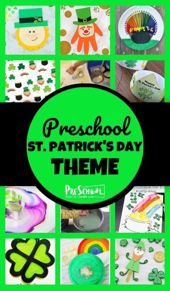 Celebrate Saint Patrick's Day with this fun st patrick's day theme preschool! This st patricks day theme preschool is filled with engaging St Patrick's Day activities for preschoolers, free St Patrick's Day printables, cute St Patrick's Day crafts for kids, and so much more! These fun st patricks day ideas are perfect for toddler, preschool, pre-k , and kindergarten age students for a St Patricks Day Theme in march!