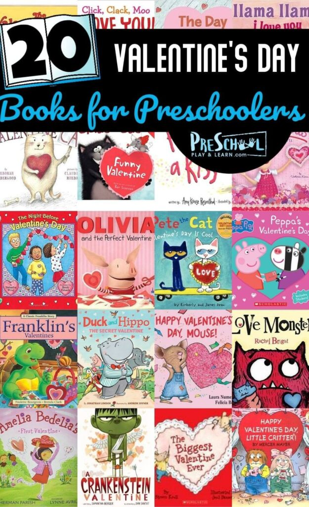20 Valentines Books for Preschool - so many great book recommendations in this preschool book list for February #valentinesday #booklist #valentiensdaybooks
