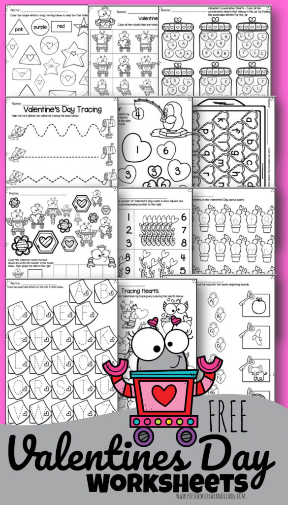 💕 Tons Of FREE Valentine's Day Worksheets